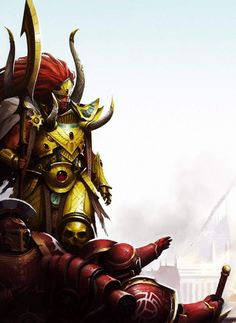 Magnus the Red with his Legion, the Thousand Sons - pre-heresy. Warhammer Eldar, Thousand Sons, The Horus Heresy, Warhammer 40k Miniatures, Game Workshop, Sci Fi Characters, Red Art, Space Marine, Fantastic Art