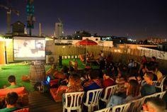 Rooftop cinema @ Abraham Hostel