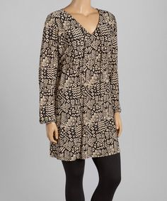 Look what I found on #zulily! Black & Tan Empire-Waist Tunic - Plus #zulilyfinds