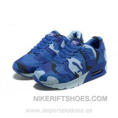 sports shoes ff6cd dee4c Nike Air Max 90 Kids Zapatillas Azul Negro 1004 (Nike Air Max 90 Rebajas)  Christmas Deals KjzJw