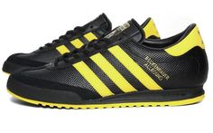 adidas beckenbauer trainers black and yellow