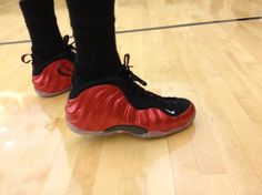 @JJ Hickson's Red And Black Nike Foamposites