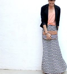 Maxi Chevron Skirt