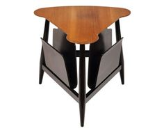 3-SIDED MAGAZINE TABLE BY EDWARD J WORMLEY FOR DUNBAR 1950 Magazine Table, Magazine Racks, Edward Wormley, Mid Century Modern Furniture, Cool Furniture, Mid-century Modern, Tables, Art Deco, Antiques