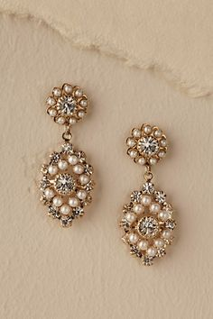 Gold Courtship Earrings | BHLDN