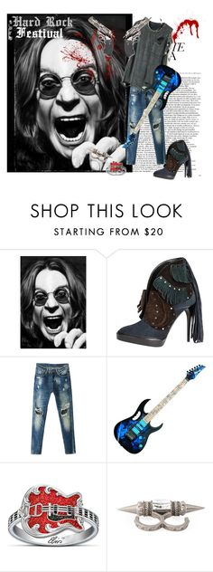 """""""Hard Rock Festival"""" by catherine-grace ❤ liked on Polyvore featuring Burberry, The Bradford Exchange and Alexander McQueen"""