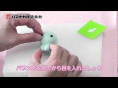 needle felting cute little animal by using ordinary felt