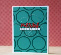 Merry Christmas Card by Laura Bassen for Papertrey Ink (December 2014)
