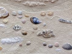 Quilting, Beachcombing by Sheena Norquay (UK).  Photo byannelize : European Patchwork Meeting Alsace 2014