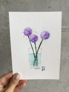 Paint Cards, Picture Cards, Watercolor, Drawings, Pictures, Painting, Flowers, Cards, Art