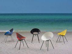 #chairsonthebeach #colorfulinteriors #steelframe #shellchair #funnychair #designonthebeach