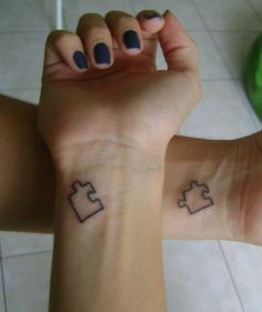 Small-Puzzle-Sister-Tattoo-Design.jpg (550×656)