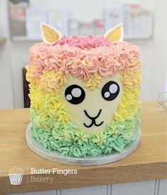 Rainbow buttercream Llama cake for a boys birthday! Rainbow buttercream Llama cake for a boys birthday! 8th Birthday Cake, Llama Birthday, Birthday Boys, Birthday Ideas, Buttercream Birthday Cake, Animal Cakes, E 7, Girl Cakes, Cute Cakes