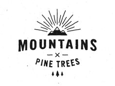 Mountains X Pine Trees by Christopher Perry