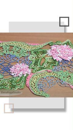 Irish Crochet Tutorial, Irish Crochet Patterns, Crochet Flower Tutorial, Crochet Designs, Crochet Flowers, Crochet Stitches, Crochet Leaves, Pattern Flower, Paisley Pattern