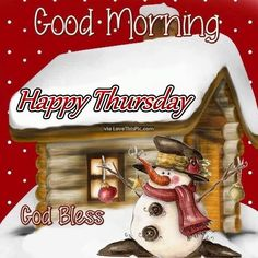 Good Morning Happy Thursday Winter Quote