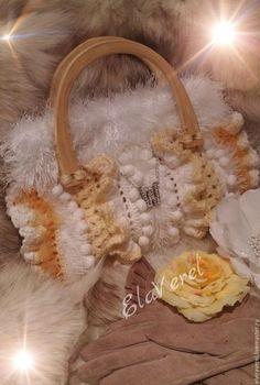 Женские сумки ручной работы. Ярмарка Мастеров - ручная работа. Купить Вязаная сумка ''СНЕЖАНА  Шебби - Шик''. Handmade. Разноцветный