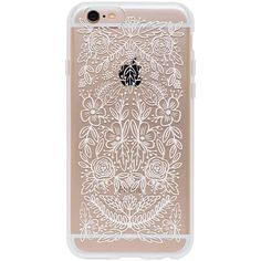 Floral Lace ($36) ❤ liked on Polyvore featuring accessories, tech accessories, phone, floral iphone case, iphone cover case, clear iphone cases, iphone case and apple iphone cases