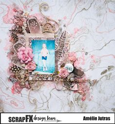Scrapbook Layouts, Scrapbooking, Floral Wreath, Wreaths, Frame, Crafts, Home Decor, Picture Frame, Floral Crown