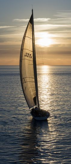 That sunset moment with a fair wind in your sails.