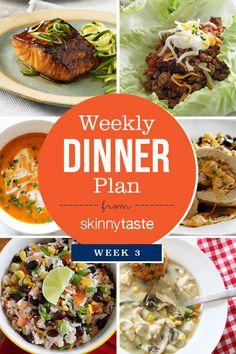 Skinnytaste Dinner Plan (Week 3)