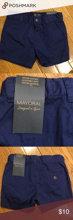 Mayoral navy shorts- 6mos New with tags Mayoral baby navy blue shorts 6mos Mayoral Bottoms Shorts