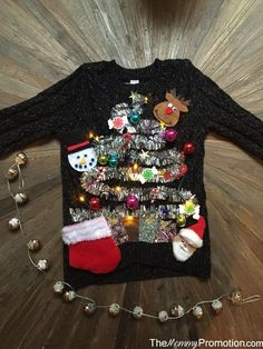 DIY Ugly (Cute) Christmas Sweater for Kids!