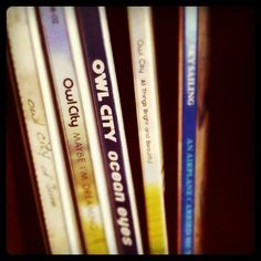 Owl City! Wish I had the cds to line up but it's easier to just buy off itunes. :)