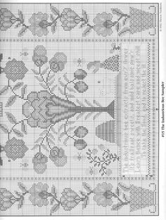 Gallery.ru / Фото #142 - Семплеры - gada Cross Stitch Freebies, Cross Stitch Patterns, Machine Embroidery, Needlework, Vintage World Maps, Quilts, Blanket, Stitch Magazine, Crafts