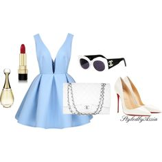 Untitled #38 by styledbyassia on Polyvore featuring polyvore, fashion, style, Christian Louboutin, Chanel, Dolce&Gabbana and Christian Dior