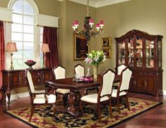 queen anne design... similar to early georgian, this has many small details but the style of furniture varies from all wood chairs to upholstered backed chairs