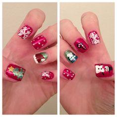 My Christmas nails!:)