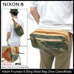 Nixon nixon fountain Sling bag (nixon Fountain Sling Waist Bag waist pouch mens & Womens unisex unisex NC1750) ice filed icefield