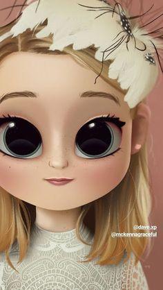 Cute Girl Drawing, Cartoon Girl Drawing, Girl Cartoon, Cute Cartoon, Drawing Art, Wallpaper Iphone Cute, Cute Wallpapers, Persona Anime, Pix Art