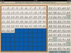 Montessori IPad Hundred Board app
