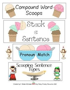 FREE Language Arts Activities. Would be great to have an ice cream party at the end of this lesson.