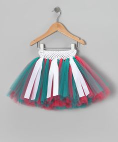 Coral & Teal Ribbon Tutu by Tutu Mania on #zulily