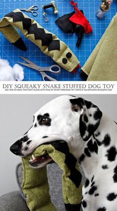 DIY Dog Toy | Stuffed Snake with Sqeakers