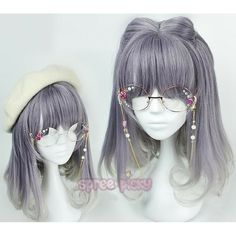 Lolita Purple Gray Mixed Wig SP166224