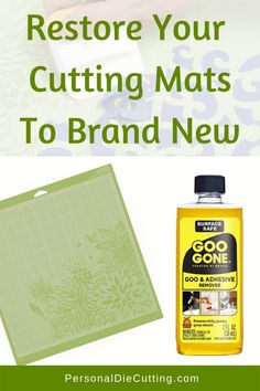 If your Silhouette or Cricut mats are getting dirty or are no longer sticky, I will show you how to make your cutting mats like new. Knowing how to clean . Read Ways to Clean and Restick Your Cutting Mats Cricut Mat, Cricut Help, Cricut Craft Room, Cricut Vinyl, Cricut Cards, How To Remove Adhesive, Scrapbooking, Cricut Tutorials, Cricut Ideas