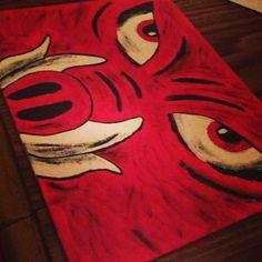 Razorback face by PaintingsBySammy on Etsy, $15.00