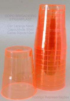 copo brigadeiro #strawplast laranja neon