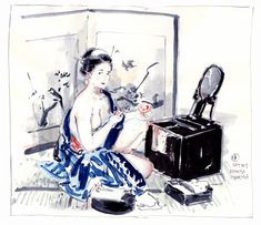 Virtual Memory, Makita, Illustrators, Character Art, Kimono, Asian, Note, Drawings, Inspiration