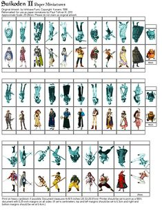 Suikoden II Paper Minis, Page 2 by Crimsonguard477 on DeviantArt