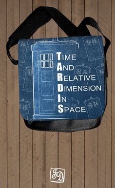 TARDIS Doctor Who - shoulder bag. $30.00, via Etsy.