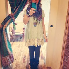 Dress up this tee by layering over the Emily Slip.