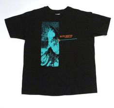 6cf59c06e Kitchens of Distinction T Shirt Vintage 1990 Strange Free World Black  Cotton Large L Tee Indie Rock Band Logo 90s Mohawk Music Record Store