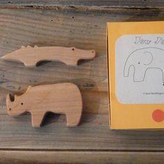 5 Piece Wooden Zoo Set
