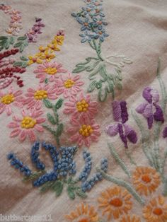 Vintage embroidered tablecloth - Ebay