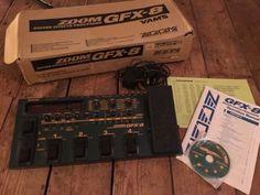 Zoom GFX8 Guitar Multi FX Effects Pedal Original Box And Manual